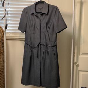 Navy Quarter Sleeve Pleated Dress Size 12